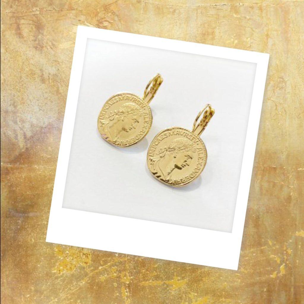 Ohrringe aus Münzen made in germany