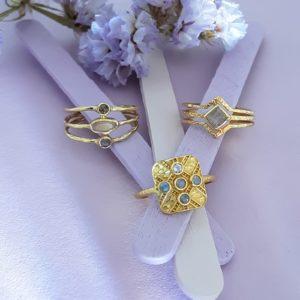 Ringe vergoldet